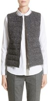 Fabiana Filippi Women's Pebbled Knit Front Quilted Down Vest