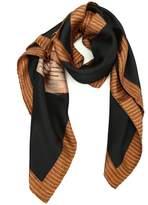 Moschino Printed Silk Scarf