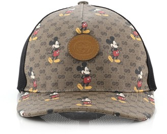 Gucci Disney Mickey Mouse Baseball Cap Printed Mini GG Coated Canvas Large