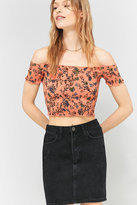 Pins & Needles Floral Picnic Bardot Off-the-shoulder Top