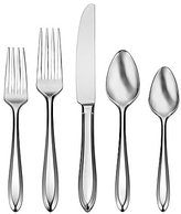 Oneida Patrician 1914 Beveled 45-Piece Stainless Steel Flatware Set
