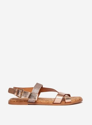 Dorothy Perkins Womens Wide Fit Rose Gold 'Fino' Sandals, Rose Gold