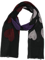 Moschino Heart Embroidered Mesh Scarf