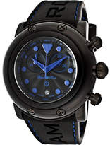 Glam Rock Women's GR61117-BLUST - Black Silicone/Black Chronograph Watches