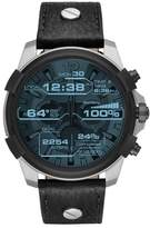 Diesel R) Full Guard Touchscreen Leather Strap Smartwatch, 48mm x 54mm