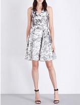 Maje Roxy halterneck sequin-embellished velvet dress