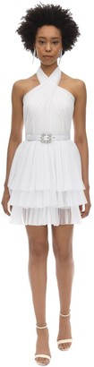 Alberta Ferretti Layered Tulle Mini Dress