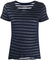 Majestic Filatures striped overlay cotton T-shirt