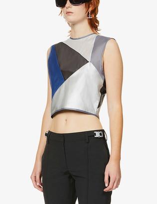Chloe Baines Coco contrasting-panel sleeveless shell top