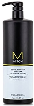 Paul Mitchell Mitch Double Hitter 2-In-1 Shampoo & Conditioner, 33.8-oz, from Purebeauty Salon & Spa