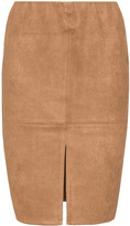 Velvet Pop Plus Size Faux suede pencil skirt
