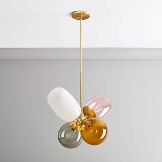 "west elm Modern Balloon Glass Chandelier (24"")"
