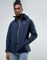 Patagonia Windsweep Jacket Hooded Waterproof Lined In Navy