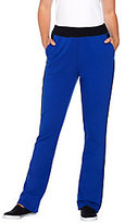 Denim & Co. As Is Active Color Block French Terry Bootcut Pants