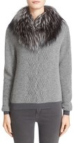 Moncler Women's Wool & Cashmere Sweater With Removable Genuine Fox Fur Collar