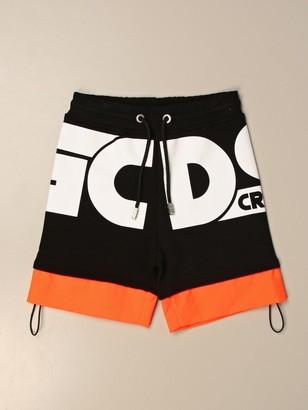 GCDS Jogging Bermuda Shorts In Cotton With Logo