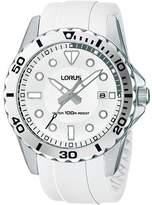 Lorus RS937AX9 – Sport – Men's Watch – Analogue Quartz – Grey Dial White Rubber Strap
