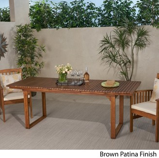 Christopher Knight Home Sorrento Outdoor Expandable Acacia Wood Dining Table