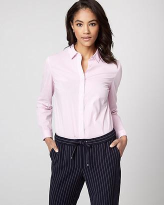 Le Château Stripe Stretch Poplin Button-Front Bodysuit