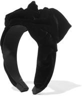 Jennifer Behr Bernadette Velvet Headband - Black