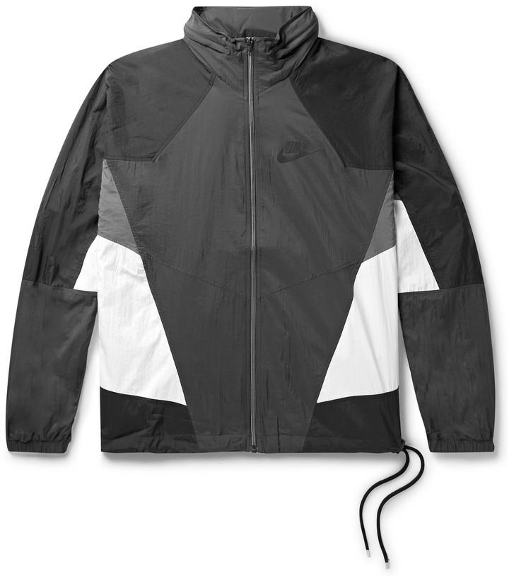e36805542 Sportswear Re-Issue Colour-Block Nylon-Ripstop Track Jacket