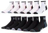 Fila Mens Ankle Socks 6 Pack Jacquard Logo