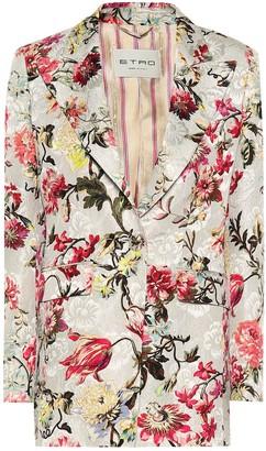 Etro Floral cotton and silk-blend blazer