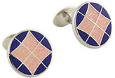 David Donahue Sterling Silver and Enamel Cufflinks