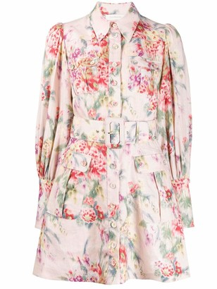 Zimmermann Floral Print Linen Dress
