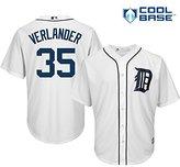 Majestic Justin Verlander Detroit Tigers MLB Men's Cool Base Home Jersey (XLarge)