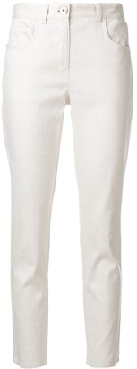 Lorena Antoniazzi slim fit cropped trousers