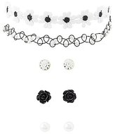 Charlotte Russe Crochet Choker Necklaces & Earrings Set