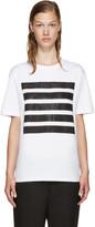 Palm Angels SSENSE Exclusive White 5 Stripes T-Shirt