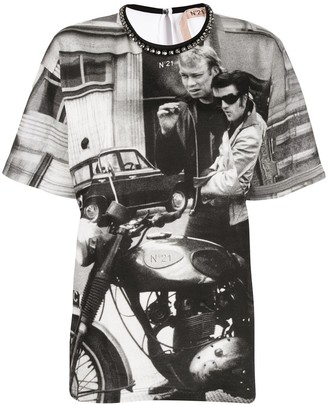 No.21 photo print T-shirt