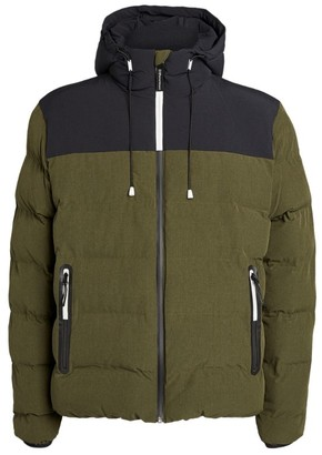 Giorgio Armani Hooded Colour-Block Puffer Jacket