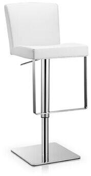 Orren Ellis Rodger Adjustable Height Swivel Bar Stool Color: Black