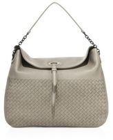 Bottega Veneta Cervo Intrecciato Leather Hobo Bag
