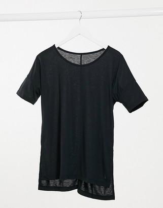 Nike Training Nike Yoga dry layer T-shirt in black