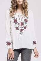 Blu Pepper Embroidered Bohemian Blouse