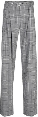Proenza Schouler Plaid Exaggerated Pant-Plaid Suiting
