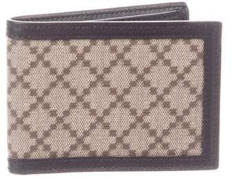 8c09460844ba Gucci Leather Bi-fold Wallet Canvas - ShopStyle