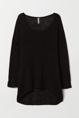 H&M Loose-knit Sweater - Black