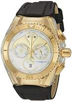 Technomarine unisex Quartz Watch with White Dial Chronograph Display and White Silicone Strap TM-115007