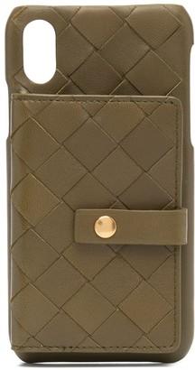 Bottega Veneta Intrecciato-weave iPhone X case