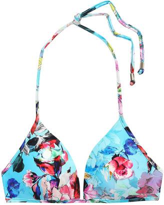 Jets Floral-print Triangle Bikini Top