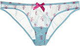 L'Agent by Agent Provocateur Tabita low-rise embroidered tulle briefs