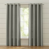 Crate & Barrel Wallace Grey Grommet Curtains