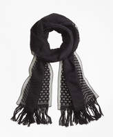 Brooks Brothers Burnout Scarf