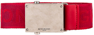 Givenchy Plate Buckle Belt in Red | FWRD