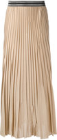 Nude elasticated waistband pleated skirt - women - Cotton/Polyester - 42